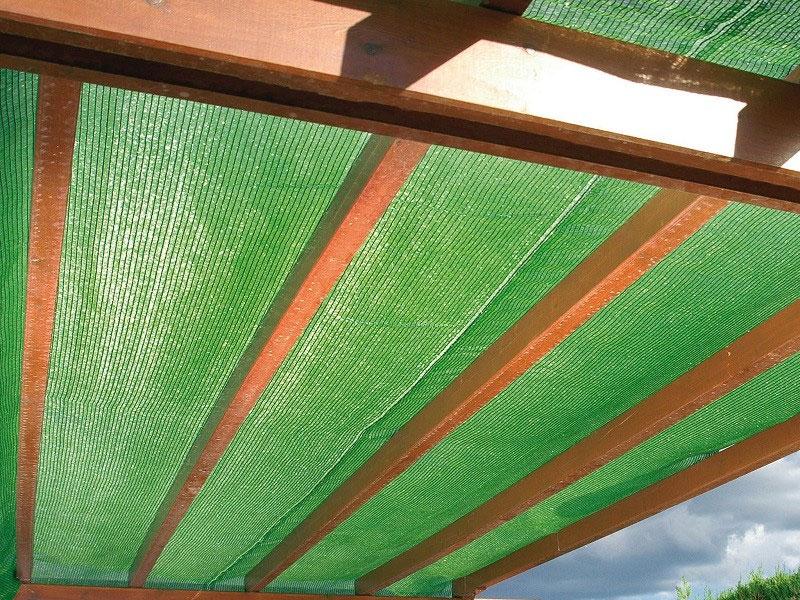 tela sombreadora verde